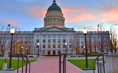 State Capitol :Salt Lake City (shishirmishra1) Tags: architecture city salt lake utah state capitol sunset colors sky