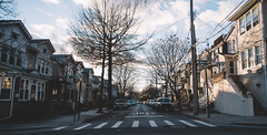 _c e n t e r_ (Juni Safont) Tags: rowhomes architecture house woodhaven queens nyc newyorkcity evening light sun street winter