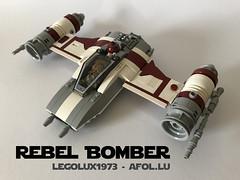 LEGO® Star Wars: Rebel Bomber 03 (jm_aalen) Tags: lego® lego moc starfighter greebles starship starwars rebels bomber