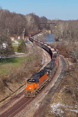 It Happened Again (Nolan Majcher) Tags: ble 867 conneaut ohio oh emd sd38ac cn canadian national bessemer lake erie sub