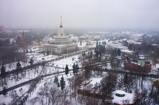 Snowfall in Moscow