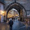 Prague (phlickrron) Tags: prague city gate people street night nightlife