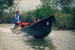 Red Hats (*Kicki*) Tags: myanmar burma inlelake shanstate hats red people tourists driver boat longboat water speed speedboat inlaylake inlay lake inle canal nature inndain inndein transport traffic