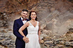 Eiríkur & Guðlaug (LalliSig) Tags: wedding photographer iceland summer june outdoor seltún geothermal area portrait portraiture people