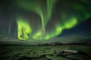 Light show - Jökulsárlón, Iceland
