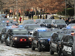 DPD Officer Glenn Doss Procession (Evan Manley) Tags: glenn anthony christopher doss funeral procession memorial service police detroit policedepartment policecar ford chevy dodge