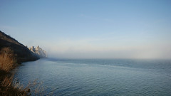 магла над Дунавом 2 (зоок) Tags: nikond80 sigma1020mm1456dchsm dunav golubac srbija danube fortress serbia magla fog blue landscape