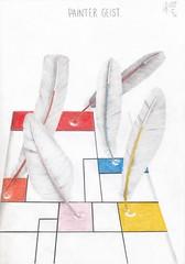 Painter geist 2 (Klaas van den Burg) Tags: ghosts color pencil mondriaan surrealism absurd humor