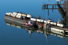 Seaspan Corsair ~ Annacis Marine Terminal (Chris City) Tags: train railway railroad shortline barge tug tugboat railbarge dock slip sry amt seaspan river annacisisland fraserriver