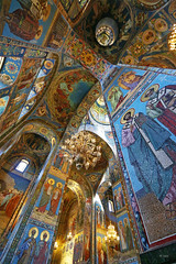 spilled blood II (freakingrabbit) Tags: spilled blood church saint petersburgh mosaic color dome orthodox vertical column apostles alexander ii ressurection christ russia interior