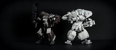 Side by Side (Wafna-204) Tags: mech bots mecha chubbybots custom bricks lego legophotography