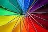 Rainbow Umbrella (Heaven`s Gate (John)) Tags: rainbow umbrella metal spokes closeup macro england colour color multicolour johndalkin heavensgatejohn sunshine spectrum 25faves 50faves