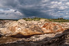 Panorama of abandoned clay quarry (Denis Vahrushev) Tags: russia southernural ural blood brown calm clay cloud colossal day directlight earth evening fabulous fearful forest frightening furrow grand grandiose green grey groove hill industrial journey july lake landscape nature orange outdoor park people pond quarry red saturated scaring structure summer sunlight surreal travel trip vivid water white yellow sverdlovskayaoblast ru