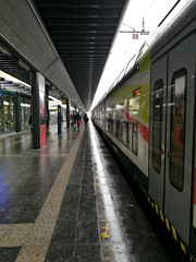 Focus (davidepremoselli) Tags: trains underground focus prospettiva linearity milano city