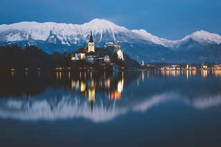 Blue hour in Bled.
