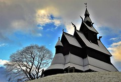 Hopperstad Stave Church from 1130 A.D (13HICKMAN77) Tags: stave norway church vik sogn fjord tree wood snow 1130
