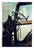 Past its sell by date (Jo ~) Tags: detail tractor steeringwheel cromer norfolk uk