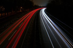 Light trails (John Hill Millar) Tags: light trails slow shutter long exposure night dark traffic panasonic lumix gx gx80 gx85 mft microfourthirds micro four thirds 12mm 1232mm a38 dual carriageway
