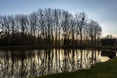 Milly sur Thérain . Oise. (roland.grivel) Tags: millysurtherain oise picardie beauvaisis coucherdesoleil crepuscule etang lac reflet