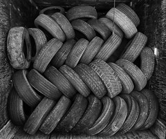 Used Up (arbyreed) Tags: arbyreed old disused tires oldusedtires stacked pattern rubber junk kanecountyutah tred explore