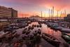 Borgo sunrise (luigi ricchezza) Tags: barche city golfo napoli porto santalucia vesuvio