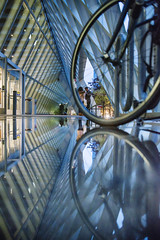 What floats beneath (Alexander Marte Reyes) Tags: seattle seattlelibrary library reflection people streetphotography street travel architecture nikond750 nikon100
