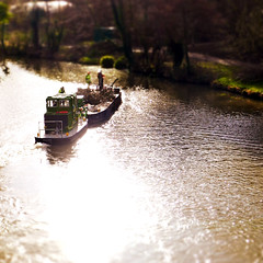 tugboat on the Medway (»alex«) Tags: river medway maidstone boat tugboat cutting working clearing water miniature mini tiltshiftfake squareformat