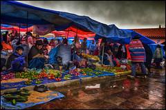 Mercado de Tarabuco, Bolivia (bit ramone) Tags: tarabuco bolivia mercado market travel viajes bitramone yampara cultura indigena gente lluvia rain