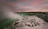 Sunset by the Falls (lfeng1014) Tags: sunset sunsetbythefalls niagarafalls horseshoefalls winter frozen waterfalls ontario canada landscape landmark longexposure canon5dmarkiii 2470mmf28lii panorama lifeng icicles ice mist