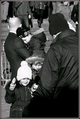 Dads' Jobs (* RICHARD M (Over 7 MILLION VIEWS)) Tags: street candid portraiture streetportraits streetportraiture candidportraits candidportraiture portraits mono blackwhite dads fatherswithkids fatherswithchildren childasleep winterclothes keepingwarm wrappedupwarm stayingwarm parenting familylife families liverpool merseyside liverpudlians scousers scouse merseysiders winter wintertime winterclothing coldweather cold november