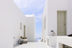 Santorini White (Johan Konz) Tags: white house building design architecture imerovigli santorini greece blue sky outdoor door window line curve wall minimalism modern nikon d90