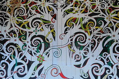 bngishakEOS 7D 0028771 (bngishak (On&Off)) Tags: bngishak canoneos7d ef24105mmf4lisusm sarawakculturalvillage kampungbudayasarawak oranguludesign mural pattern wallmural art colours geometric thelivingmuseum