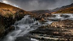 Dark shadows... (Einir Wyn Leigh) Tags: landscape water waterfall snowdonia rugged winter contrast rural outside wales