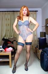 箩霸 (Rafia T) Tags: androgyny androgynous sissy corset tg ts tv tgirl tranny transexual transgender transsexual transvestite genderbender gurl rafiat m2f mtf makeup rafia rafiatg feminization