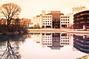 Reflection (Maria Eklind) Tags: building hovrätten malmö mist canal kanal city winter dimma nature cityview spegling sweden fog reflection weather water park skånelän sverige se