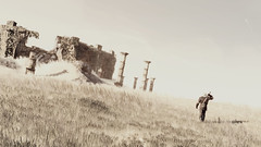 A Long Journey Lies Ahead (Stachmoon) Tags: beginning witchers long journey the witcher iii reshade video game gaming screenshot digital art plains fantasy minimalism ruins adventure