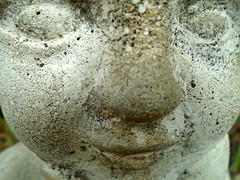 DSC02087 (classroomcamera) Tags: school campus garden face angel concrete rock stone nose eyes mouth pose portrait