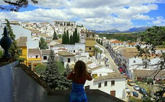 and one shot of a beautiful Ronda (majka44) Tags: spanielsko girl travel andalusia spain sky architecture tree mountain people photographer women holiday day light
