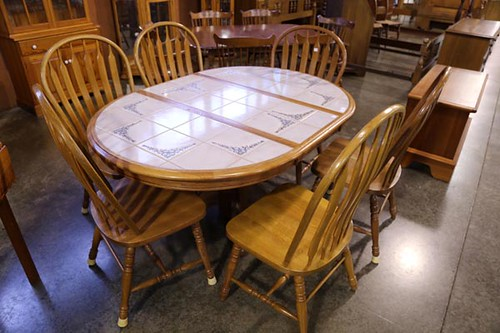7-Piece Oak Table w/ 6 Chairs ($308.00)