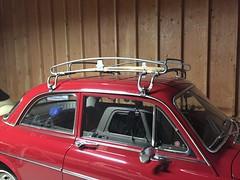 Vintage Swedish roof rack. (63vwdriver) Tags: vintage volvo 122s 122 amazon 1967 red norema roof rack wood slat