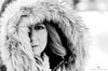 Vanessa-19 (TheEvilDonut Photography) Tags: outdoors woman portrait winter snow beautiful longhair thin stunning gorgeous montreal mcgilluniversity
