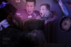 Story time (aevo69) Tags: dream photoshop photography comfort home book reading story telling adventure fantasy floating andy evans andyevanscreations
