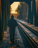 (ErrorByPixel) Tags: walk smc pentaxda 50mm f18 smcpentaxda50mmf18 pentax k5 pentaxk5 errorbypixel winter person railway bridge man sunset cinematic pentaxart