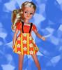 Orange mod clone dress (skipscales) Tags: pedigree sindy mod dress orange daisies 1970s mini blonde