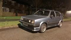 (Sam Tait) Tags: 13 petrol golf mk2 blue retro rare car classic old 1989 5 door gti replica grill bbs alloy wheels