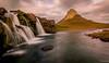 Kirkjufell and Kirkjufellsfoss (einisson) Tags: kirkjufell kirkjufellsfoss waterfall water mountain clouds snæfellsnes iceland ísland outdoor nature landscape einisson canon