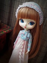 Yeolume Magical New Year - blue version (Lunalila1) Tags: doll aga yeolume newyear version handmade outfit blackbery blue magical lily korean hanbok