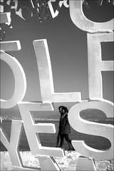 say yes (bostankorkulugu) Tags: mediterranean sea antibes nomade jaumeplensa bastionsaintjaume france frenchriviera cotedazur couple yes letters sculpture art artwork
