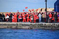 Santa's Run, Chania (daviddaniels989) Tags: chania crete harbour santa water balloons people gathering ramblers
