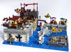 CanalStChase3 (Shmails) Tags: lego district 18 flood chase market fishing